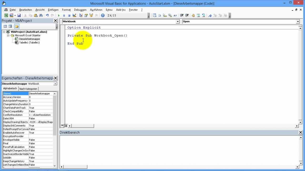 Excel # 337 - Makros beim Starten und Beenden einer Arbeitsmappe ...