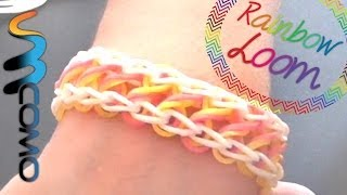 Repeat youtube video Rainbow Loom - Pulseira Infinito ( Com Dois Garfos )