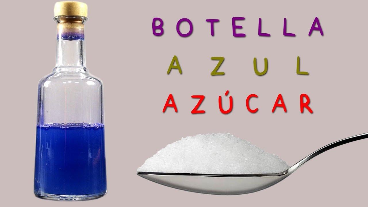 ¿Botella Azul con Azúcar Común o Sacarosa?. Sí, es Posible, pero Hidrolizándola.