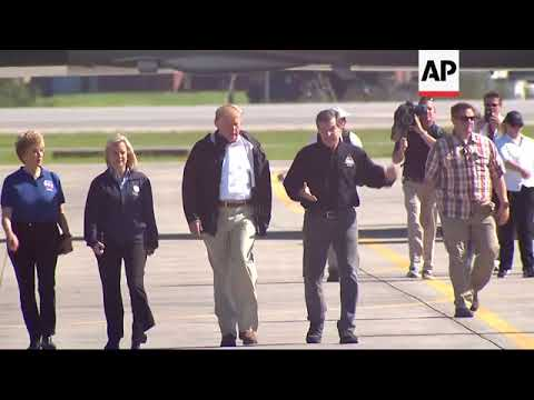Trump arrives in NC after Hurricane Florence