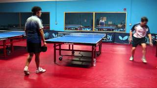 Table tennis practice game 2: Alex vs Hung at Ping Pong Dojo