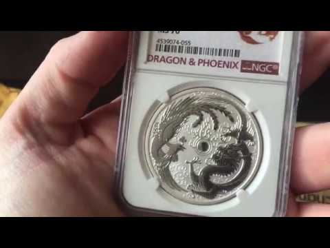 Silver Unboxing from MCM! Perth Mint 2017 1 oz Dragon and Phoenix coin!