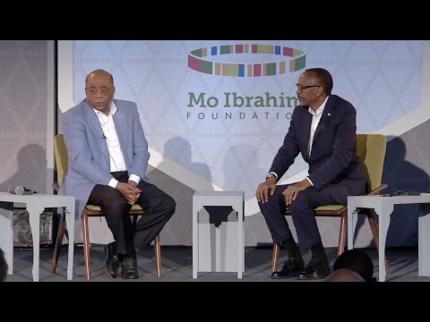 Mo in conversation with H.E. President Paul Kagame, Chair of the African Union