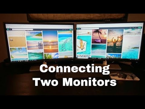 How to setup dual monitors to a hp docking station