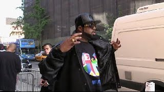 Wu-Tang Clan arriving at Daily Show