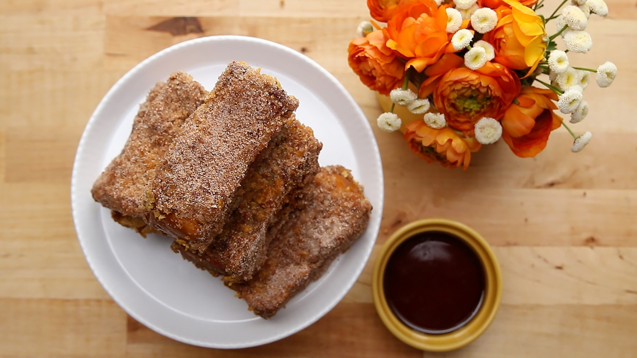 Crunchy Churro French Toast Sticks Youtube