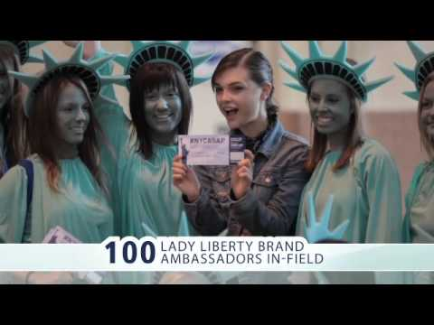 #NYCASAP - WestJet Statue of Liberty stunt in Toronto - highlights