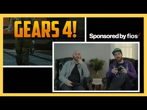 Futureman and I hit up Gears of War with Verizon Fios! #sponsored
