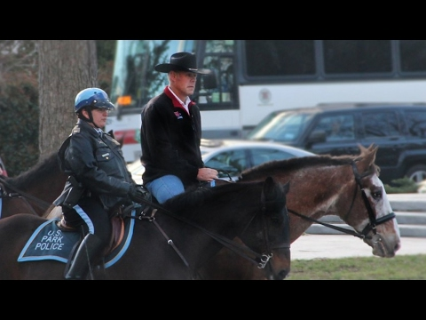 U.S. interior secretary rode to work on a horse