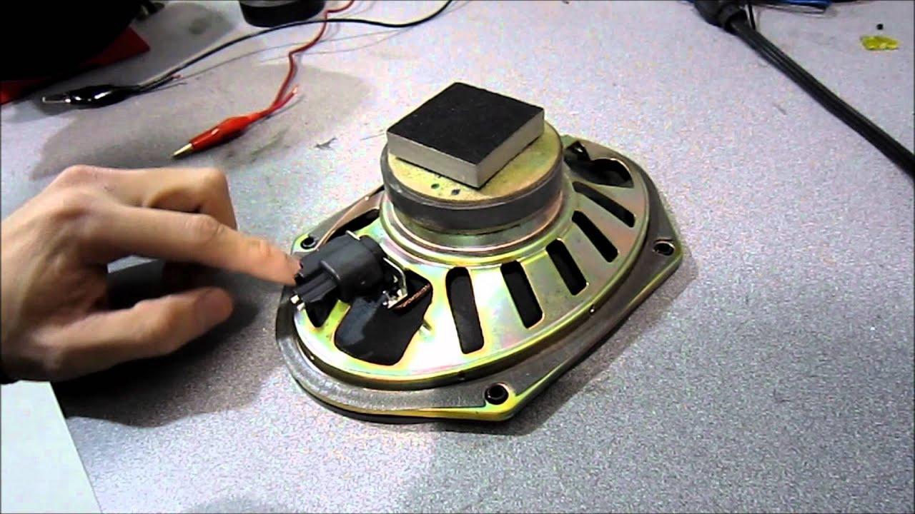 checking for positive negative on a speaker speaker polarity  [ 1280 x 720 Pixel ]