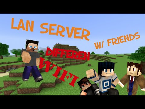 How To Play Minecraft LAN Server With Friends! (Different WIFI Using Hamachi)