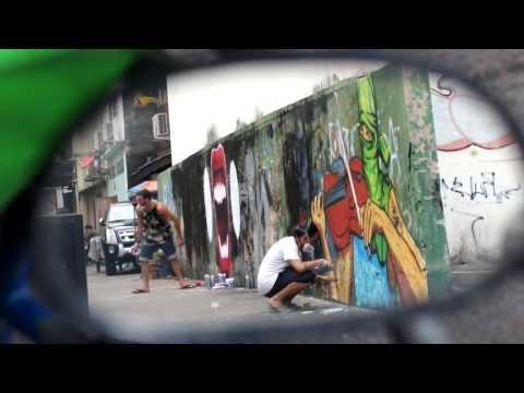 PAIN(T) FREE 2013 (Bangkok Street Art Documentary)- CECE NOBRE & MATT DIAMOND(again:)