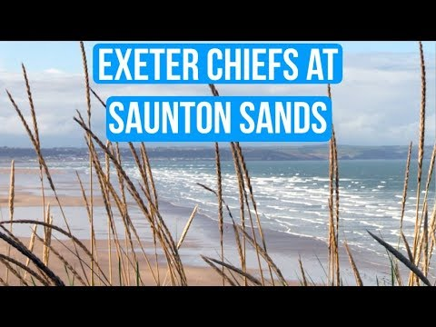 Exeter Chiefs surfing at Saunton Sands
