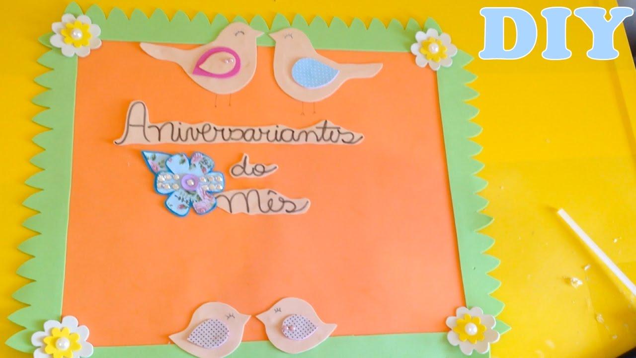 Como fazer quadro escolar de aniversariante de eva diy for Aviso de ocasion mural