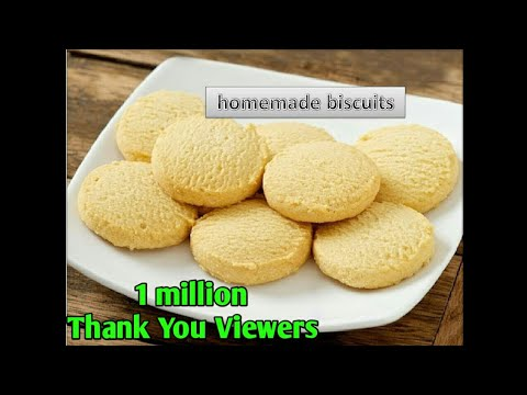 Homemade Biscuits Without Eggs /Maida Biscuits Without Oven In  Hindi