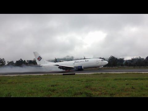 Trigana 737-300 crash at Wamena 13/09/2016 *Full HD*