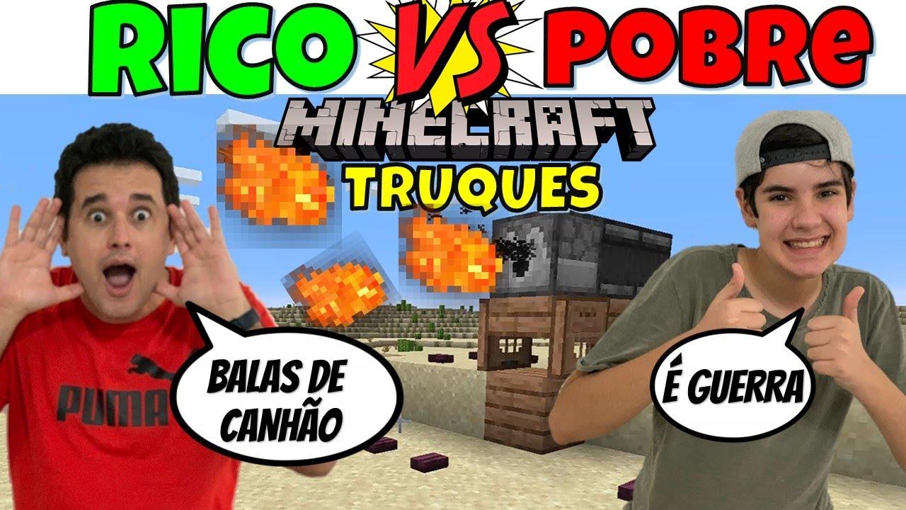 RICO VS POBRE MINECRAFT TESTANDO TRUQUES DO TIK TOK 4 | PEDRO MAIA