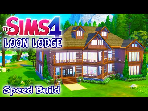 The Sims 4 House Build: Loon Lodge Family Vacation Home