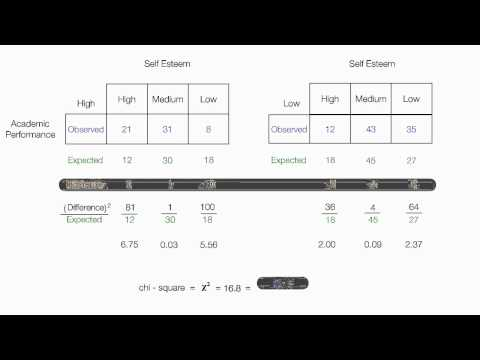 How to calculate Chi Square Test for Independence (two way)