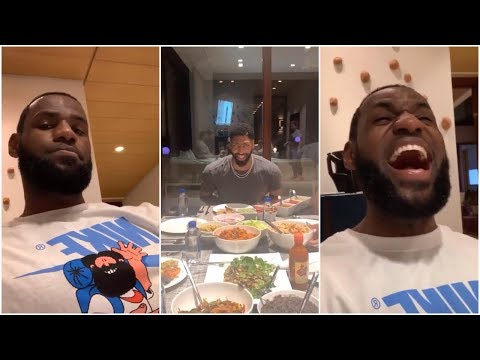 LeBron Brings Anthony Davis Over For A Special Post All Star Edition Of Taco Tuesday