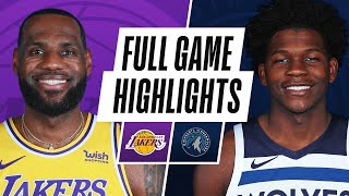 Game Recap: Lakers 112, Timberwolves 104