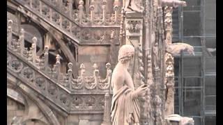 Viskonti(Видео новелла, навеянная сценой на крыше Миланского собора из фильма Висконти