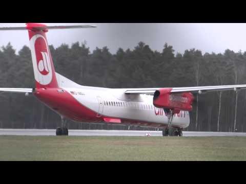 ✈ Planespotting Nürnberg ✈ [CLOSE UP!] Airberlin Dash 8-Q400 Take Off NUE!! [Full HD]