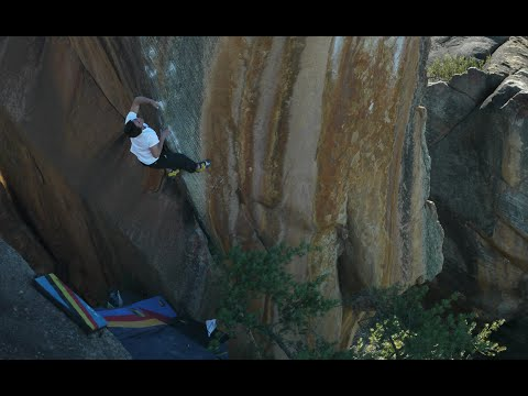 Daniel Woods, Giuliano Cameroni and Shawn Raboutou in Rocklands