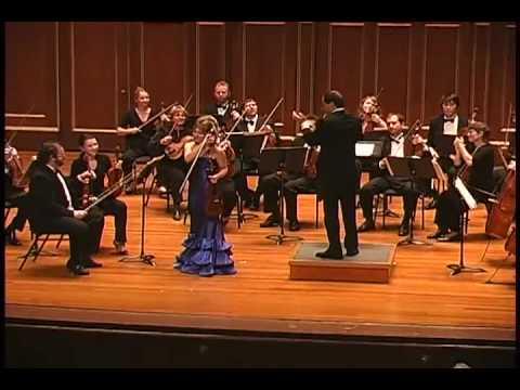 Irina Muresanu plays Enescu Romanian Rhapsody No. 1 arranged for violin and strings PART 3