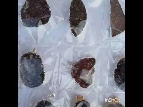 Amethyst Druzy Pendants from Uruguay