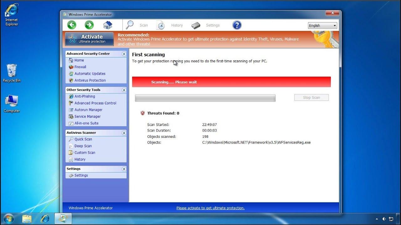 windows explorer popup virus