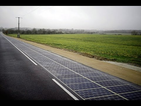France unveils the world's first solar panel road