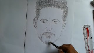 how to draw IRON MAN   sketch | TONY STARK | Pencil Sketching |art altaf sketche