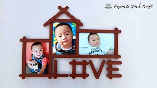 Easy Love Photo Frame with Popsicle | Ice cream st