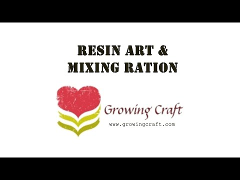 325. Resin art-Resin art for beginners-Resin craft-Resin mixing-Resin mixing ratio - Growing Craft