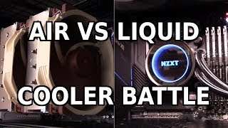 Air Cooling vs. Liquid Cooling: The Ultimate Showdown (feat. Noctua NH-D15 vs. NZXT Kraken X72)