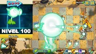 Plants vs Zombies 2 Mod - Electric Peashooter Level 100 - Super Bobina Tesla