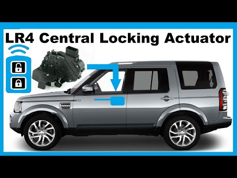 Land Rover Discovery 3 4 Front Door Central Locking Actuator Replacement DIY LR3 LR4