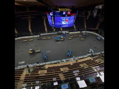 Time Lapse Of Madison Square Garden Transforming From Basketball