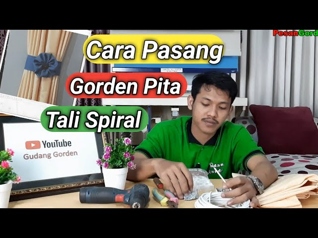 Cara Pasang Gorden Kupu - Kupu Pakai Tali Spiral Kawat 082310989451 #gudanggorden  #tutorialgorden