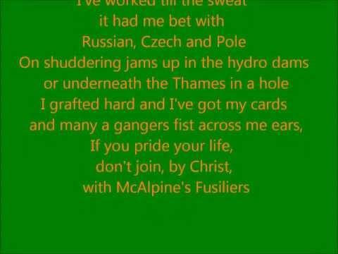The Dubliners - McAlpines Fusiliers (lyrics)