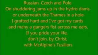 The Dubliners - McAlpines Fusiliers (lyrics)
