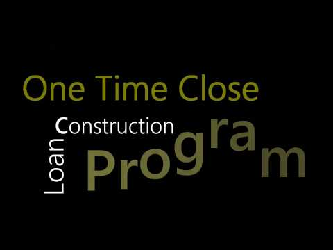 One Time Close Construction Loan Program with Goldwater Bank