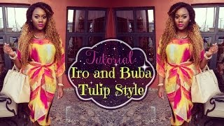 Tutorial: How to tie and wear Tulip Style Iro and Buba