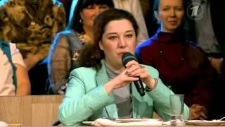 Анна Белоусова в программе Время Обедать на Первом Канале - О блинах