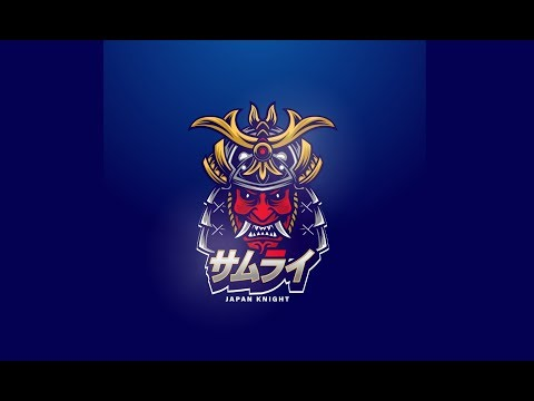 Samurai - Japan knight Adobe illustrator Speed art drawing