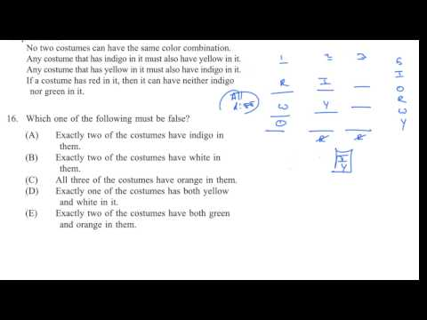 Grouping setup – given info: must be false | Example | Analytical reasoning | LSAT | Khan Academy
