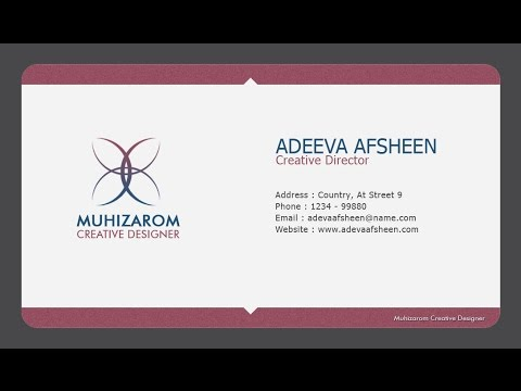 How To Create Clean Creative Business Card In Photoshop