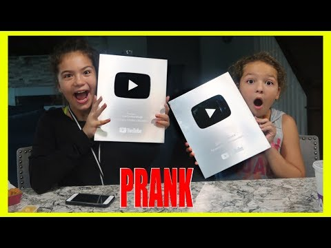 YOUTUBE PLAY BUTTON PRANK | SISTER FOREVER