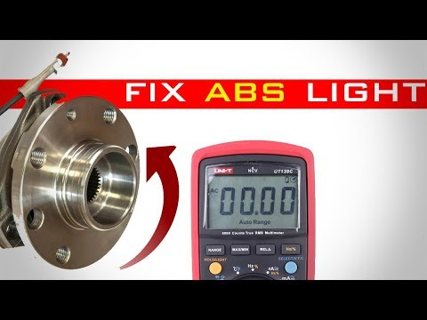 how to fix abs light  without scan tool